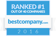 Ranked #1 on Best Company